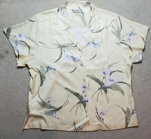 Mens-Tommy-Bahama-Floral-Print-Aloha-Hawaiian-Camp-Resort-Silk-Shirt-XL