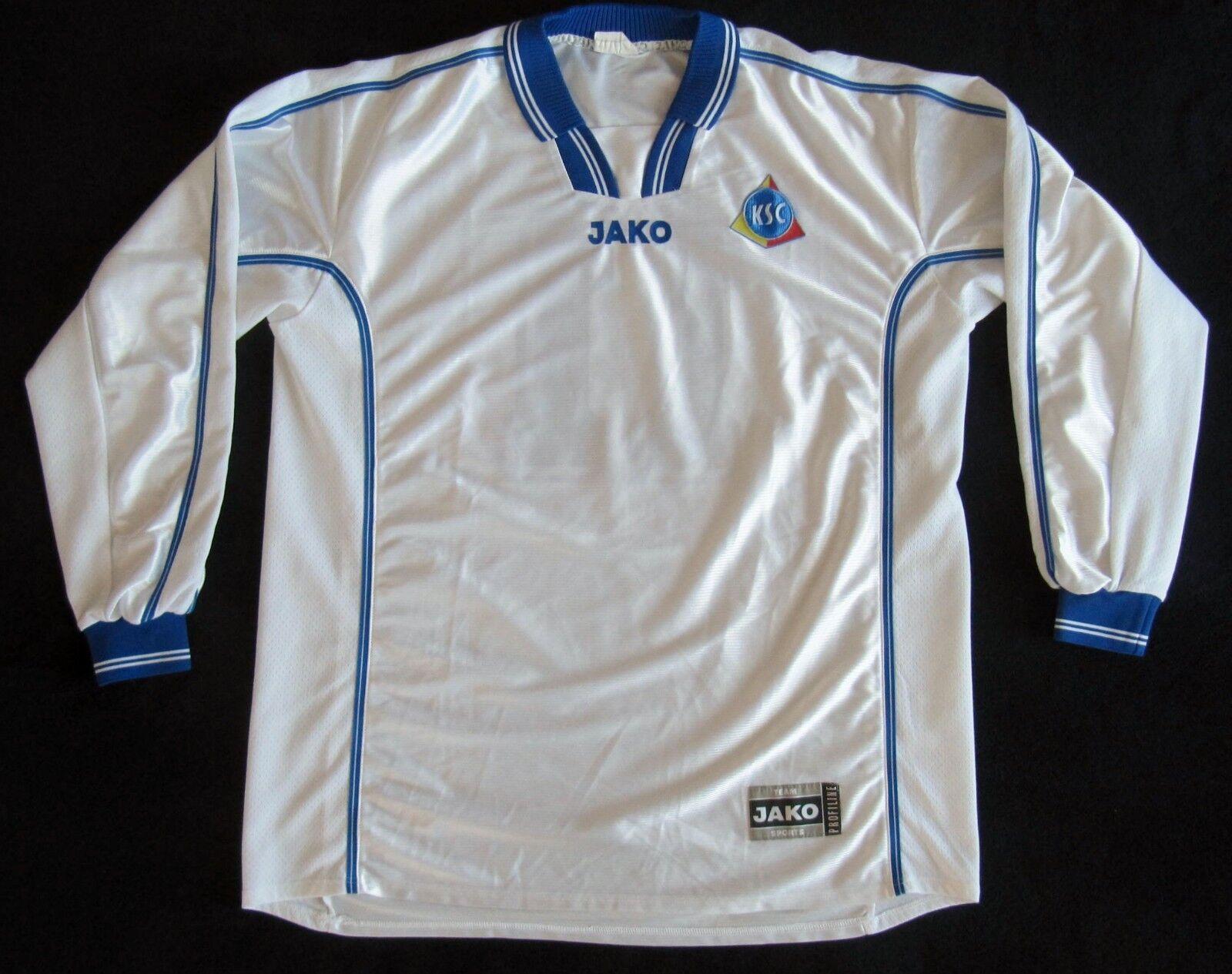 TOP : KSC Karlsruher SC AWAY Trikot 2000/01 JAKO  Gr. XL  ROHLING OHNE WERBUNG
