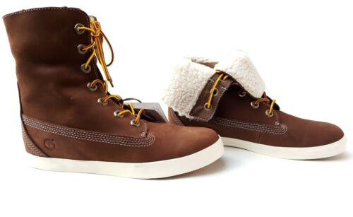 Braun Leder Damen Winterstiefel Timberland Down Schuhe Boots aqnTggz