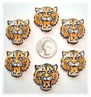 6pc Tiger Bobcat Yellow Gold Black Flatback Resins 4 Football Cheer Bow Hairbow