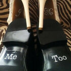 "NEW Bridal and Groom Shoes Sticker Wedding Decal Accessories ""I Do & Me Too""Set"