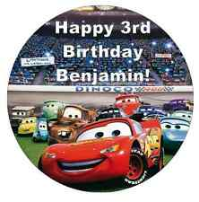 """Cars Lightning Mcqueen Personalised Cake Topper 7.5"""" Edible Wafer Paper"""