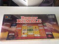 Vintage 1986 Rummy Rumble Board Game