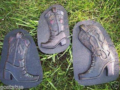 NEW 3 fun cowboy boot plastic molds