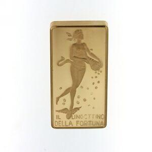 LINGOTTO-UNOAERRE-DELLA-FORTUNA-10-GRAMMI-ORO-750-18KT-GOLD-BULLION-18-CARATS