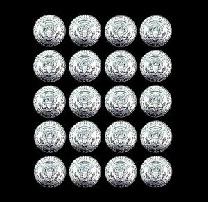 2010 2011 2012 2013  P /& D  KENNEDY HALF DOLLARS FROM MINT ROLLS 8 Coins