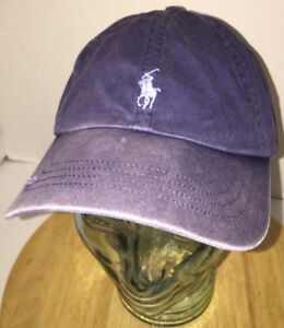 POLO RALPH LAUREN Hat Cap Leather Belt Back PONY Distressed   Well ... 2b44334d23f