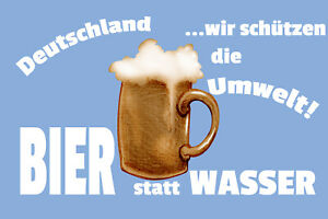 Germany-Beer-Instead-Of-Water-Tin-Sign-Shield-7-7-8x11-13-16in-W1306