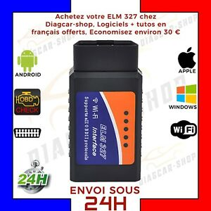 elm 327 wifi logiciel francais obd2 interface diagnostique elm327 wi fi ebay. Black Bedroom Furniture Sets. Home Design Ideas