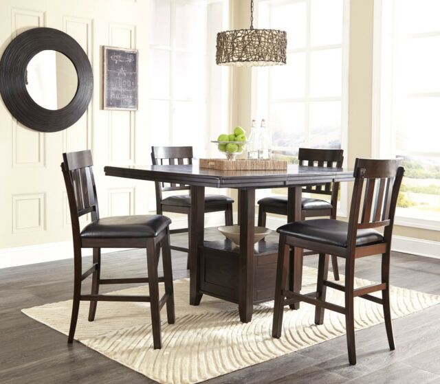 Ashley Furniture Haddington 5 Piece Counter Height Dining Room Table Set For Sale Online Ebay