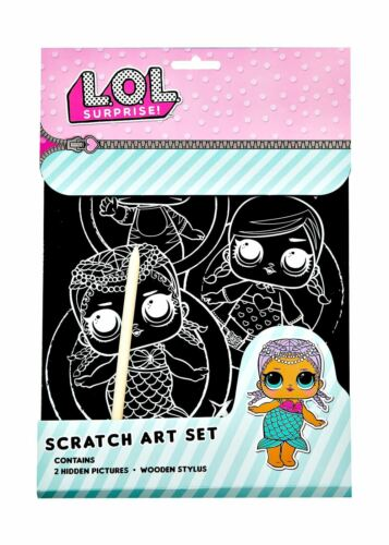 L.O.L Surprise Scratch Art Set 2 Kratzbilder mit Holzstift Kratzbild Malset LOL
