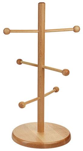 Wurstständer aus lackiertem Buchenholz Höhe 32 oder 50 cm Brezelständer