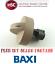 GENUINE BAXI BERMUDA C5W MAHOGANY LPG GAS FIRE CONTROL KNOB 232705 FREE POST