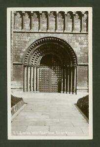 Selby-Abbey-West-Anteriore-Porta-Vero-Foto-Cartolina-da-E-L-Scrivens-Di