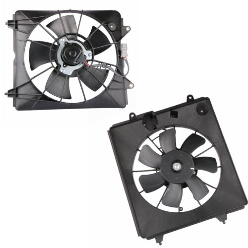 Left//Right AC Radiator Condenser Cooling Fan Assembly For 07-09 Honda CRV 2.4L