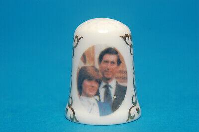 Prince Charles and Diana Wedding 1981 with Free Box Birchcroft China Thimble