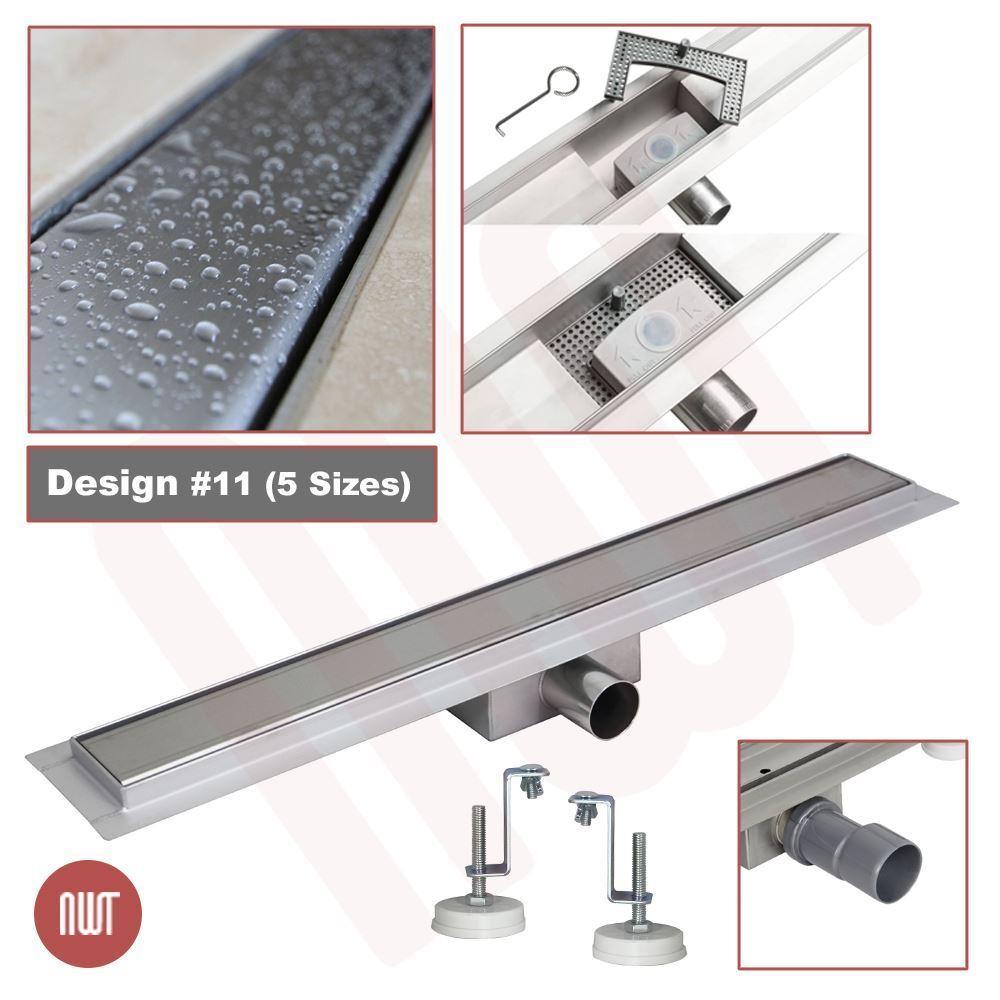 1500 Mm Long rectangulaire en acier inoxydable Linéaire Pièces humides Drain (Design 11)