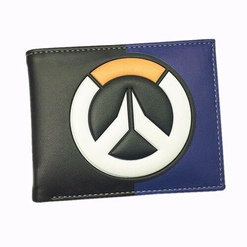 Nouveau Overwatch logo symbole Gamer Geek Nerd Cuir Slim deux volets Portefeuille Carte Cadeau