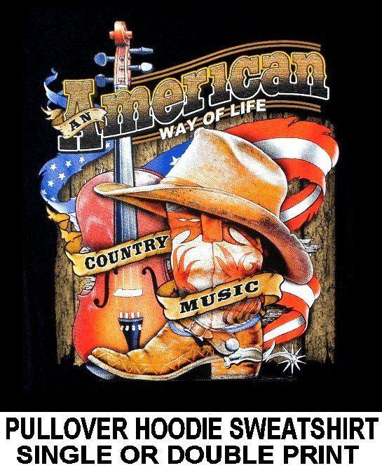 AMERICAN COUNTRY MUSIC COWBOY COWGIRL HAT Stiefel VIOLIN WRANGLER HOODIE SWEATSHIRT
