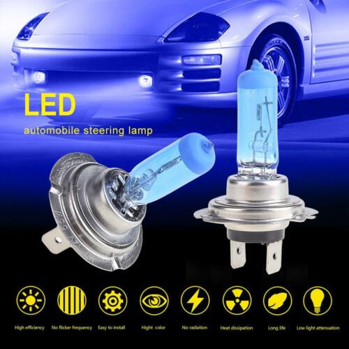 2pcs H7 1000lm Car LED Fog Lamp Headlamp Headlight Bulb Low Beam 6000K Blue 12V