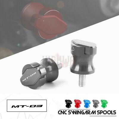M6 Motorcycle Swingarm Spools Stand Bobbins for YAMAHA MT-25 MT-03 YZF R3 YZFR25