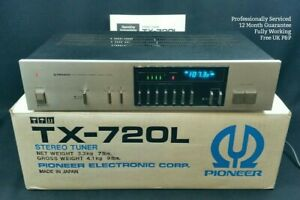 Pioneer-TX-720L-Tuner-WORKING-amp-SERVICED-FM-AM-Radio-Vintage-Blue-Line-1980s