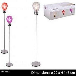 LAMPE SUR PIED LAMPADAIRE DESIGN AMPOULE BUREAU SALON CHAMBRE ENFANT on