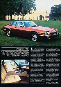 1983 Jaguar XJ-S XJS luxury Classic Vintage Advertisement Ad A84-B