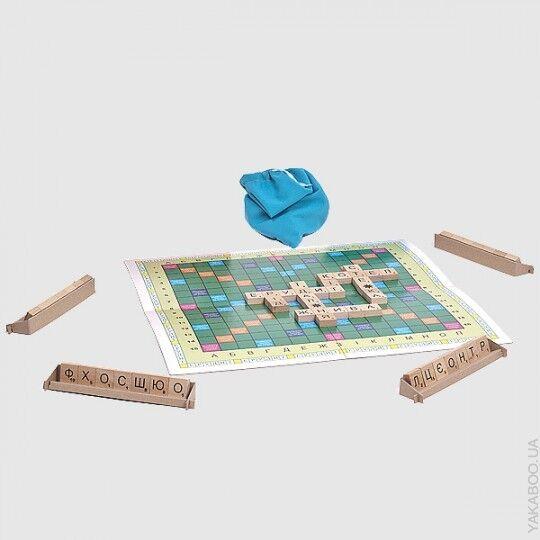 Ukrainian board games Wood Wood Wood Tiles Scrabble ERUDIT Crossword Valentine's Day Gift 1001d3