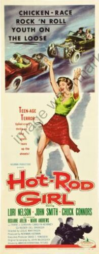 Hot Rod Girl Movie Poster Insert #01 Replica