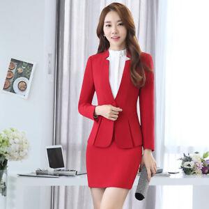 55b90fa87 Details about Ladies Formal Skirt Suit Office Uniform Designs Women  Business Suits for work