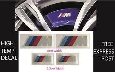 X BMW M BREMBO Caliper Restoration Sticker Decal Kit High Temp EBay - Bmw m brake caliper decals