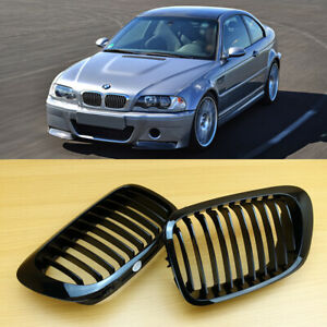 M-Color Matte Black For BMW 98-02 E46 2D Coupe//Conv M3 Metal Type Front Grill