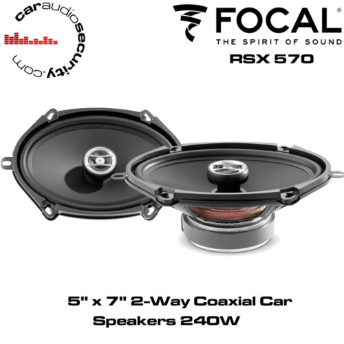 "Focal RCX570-5/"" X 7/"" 2-Way 240W Coaxial Altavoces De Coche Altavoz De La Puerta Potencia Total"