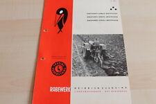 144629) Rabewerk Dreipunkt Beetpflüge Prospekt 08/1960