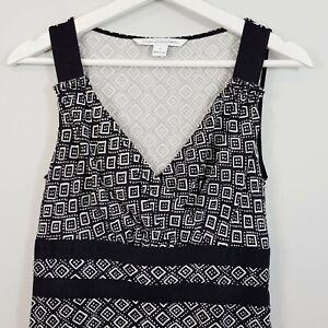 DIANE-VON-FURSTENBERG-Womens-Eugenia-Silk-Print-Dress-Size-AU-8-or-US-4