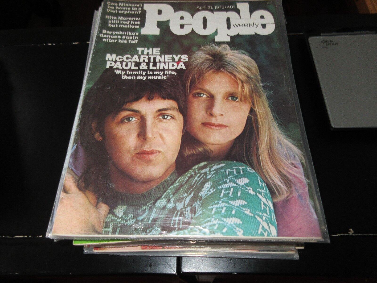 People Weekly , April 21 ,1975 , Paul & Linda McCartney
