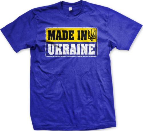 Made In Ukraine Flag Colors Ukrainian Pride Country Born From UKR Men/'s T-Shirt