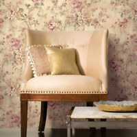Lush Feminine Cabbage Rose Wallpaper Double Roll Bolts Free Shipping