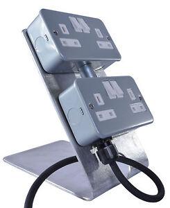 13-Amp-2x-2-GRUPPO-Marquee-Adattatore-di-alimentazione-16-Amp-ingresso-IP44-IP67-Power-Distribution