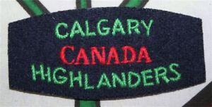 paire-d-039-insignes-canadien-du-Calgary-Highlanders