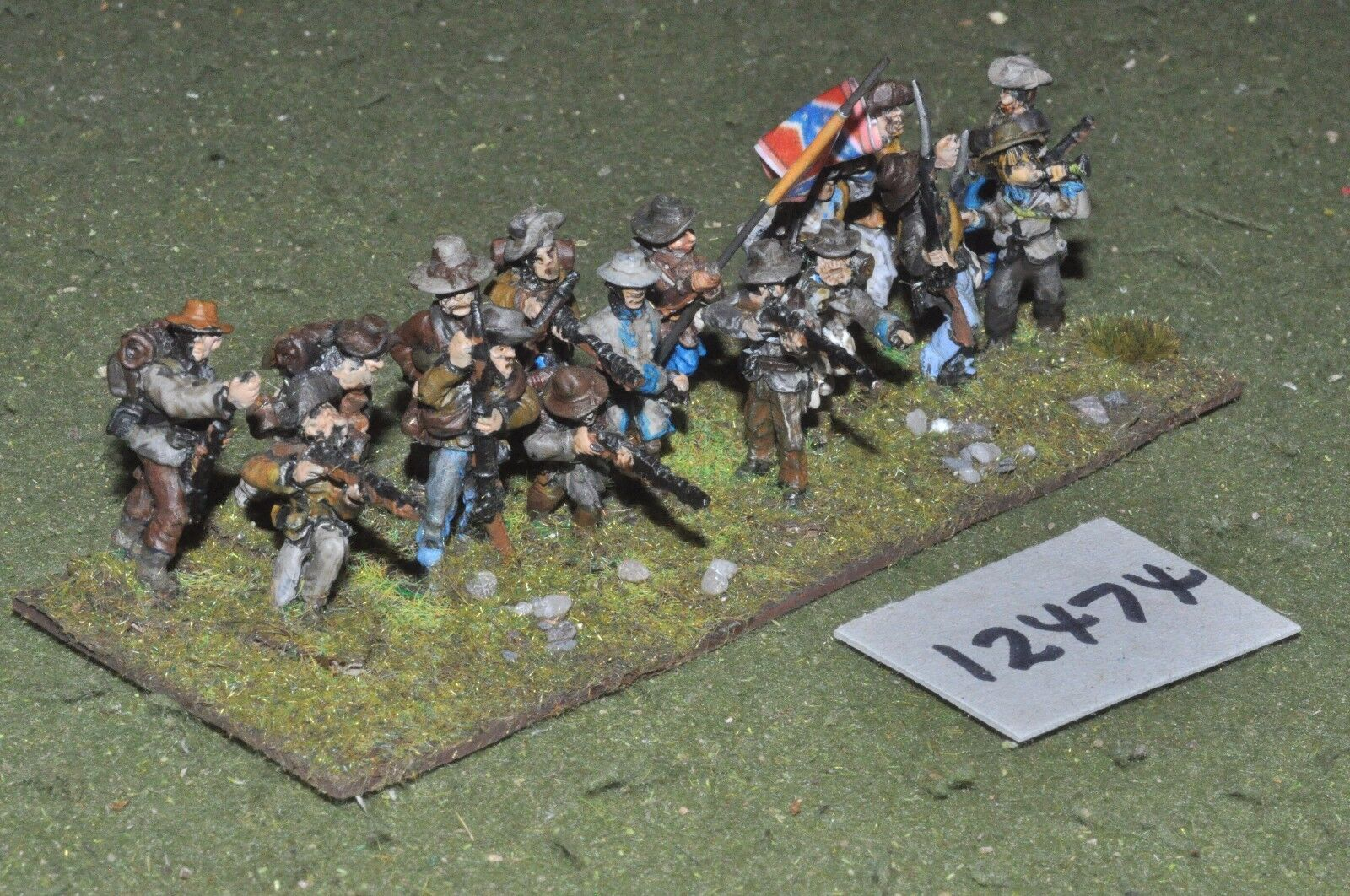 25mm ACW   confederate - american civil war infantry 16 figures - inf (12474)