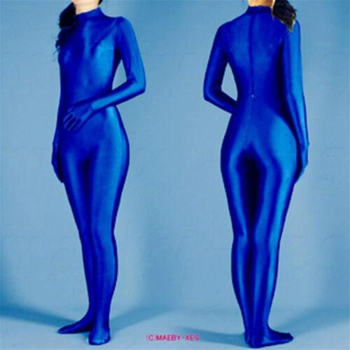 Blue Color Lycra Spandex Party Cosplay Costume Zentai Suit No Hood -S-XXL