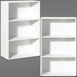 White Bookcase Shelf Wooden Shelves Bookshelf 115cm Shelving