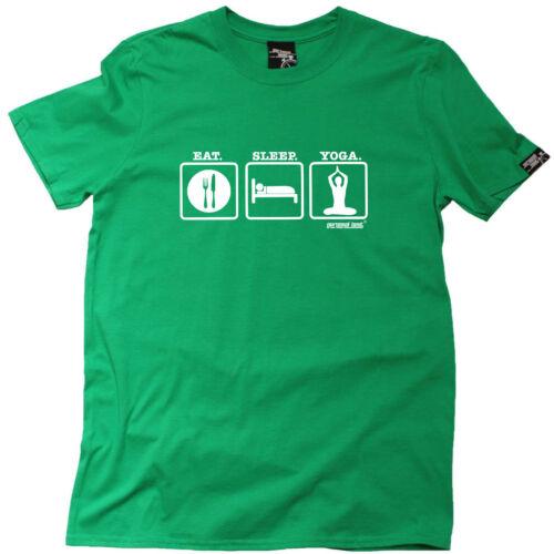 Running T-shirt Divertenti Novità T-Shirt Maglietta da uomo-EAT SLEEP Yoga