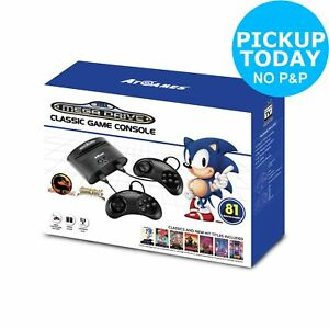 Sega Megadrive Standard Games Console with 81 Games 857847003790