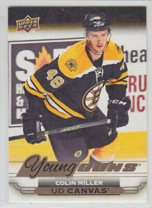2015-16-UD-SERIES-CANVAS-COLIN-MILLER-RC-YOUNG-GUNS-ROOKIE-YG-Upper-Deck-Knights