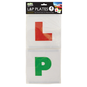 New Learner Driver L-Plate Secure Just Pass P-Plate Set 4pk Plates L/&P Magnetic