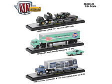 AUTO HAULERS RELEASE 23 3 TRUCKS SET 1/64 DIECAST MODELS BY M2 MACHINES 36000-23