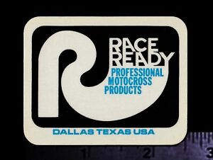 RACE READY Professional Motocross Products Original Vintage Racing Decal//Sticker